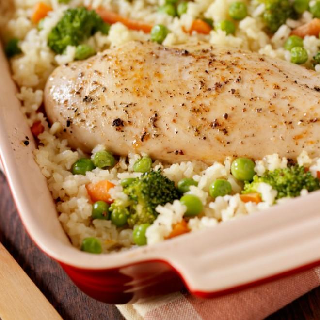 Vištiena su ryžiais ir daržovėmis