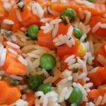 Ryžiai su šaldytom daržovėm